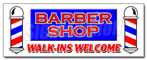 Barber Shop Walk-Ins Wel Decal