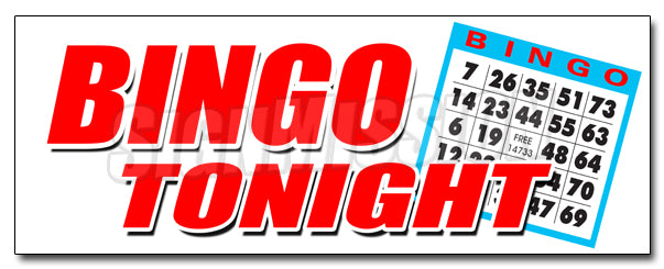 Bingo Tonight Decal
