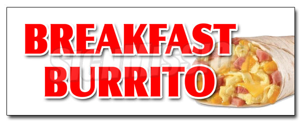Breakfast Burrito Decal