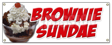 Brownie Sundae Banner