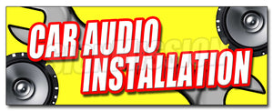 Car Audio Installation Decal