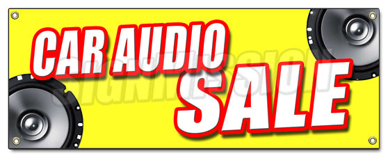 Car Audio Sale Banner