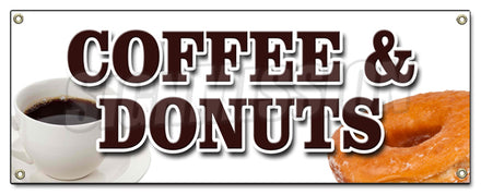 Coffee & Donuts Banner