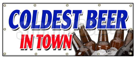 Coldest Beer In Town Banner