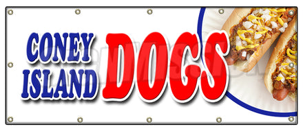 Coney Island Dogs Banner