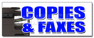 Copies & Faxes Decal