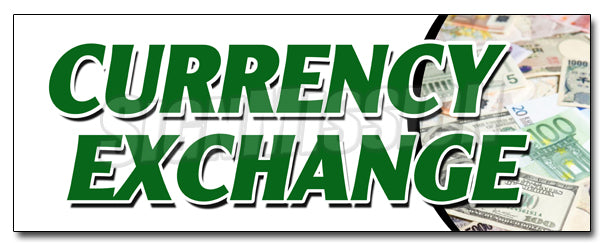 Currency Exchange Decal