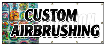 Custom Airbrushing Banner