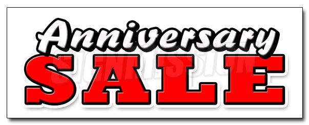 Anniversary Sale Decal