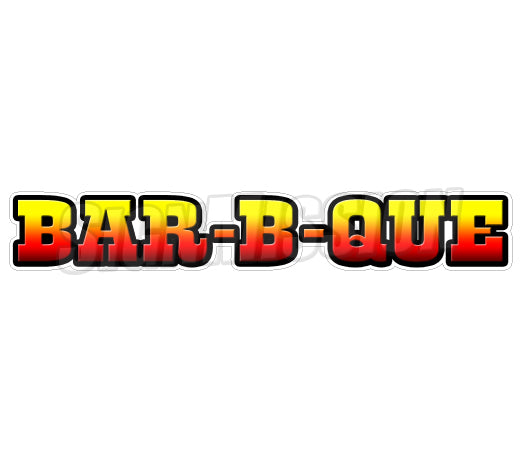 Bar-b-que Decal