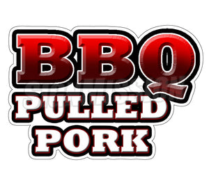 Bbq Pulled Pork Text Decal
