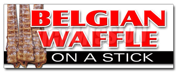 Belgian Waffle On A Stick Decal