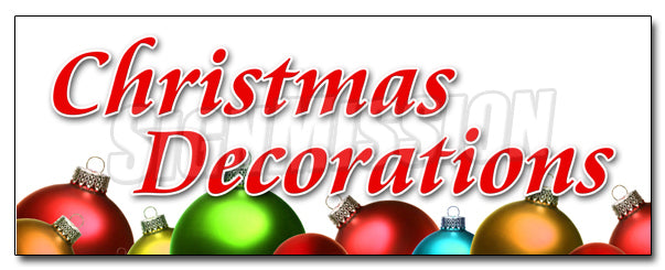 Christmas Decorations Decal