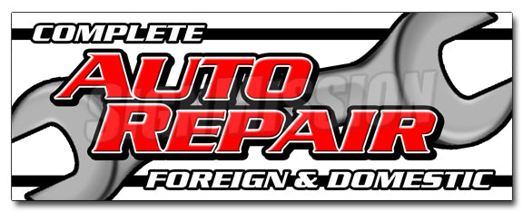 Complete Auto Repair For De Decal