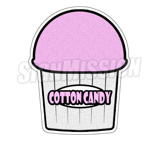 Cotton Candy Flavor Decal
