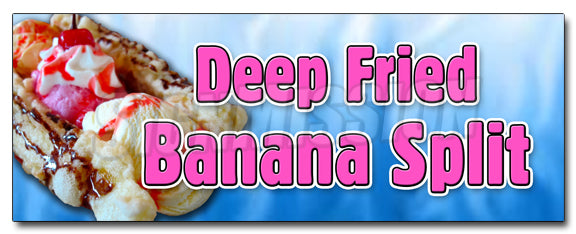 Deep Fried Banana Split Decal