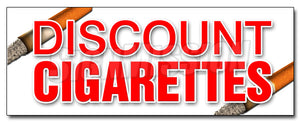 Discount Cigarettes Decal