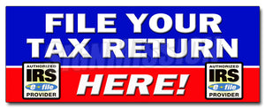 File Your Tax Return Here Decal