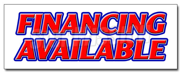 Financing Available Decal