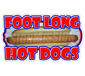 Foot Long Hotdog Decal