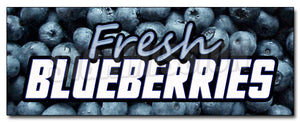 Fresh Blueberries Decal