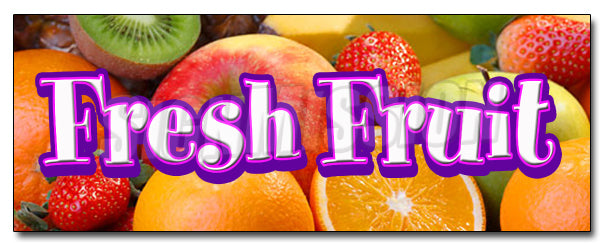 Fresh Fruit Decal