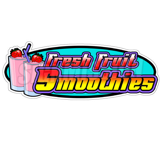 Fresh Fruit Smoothies Decal