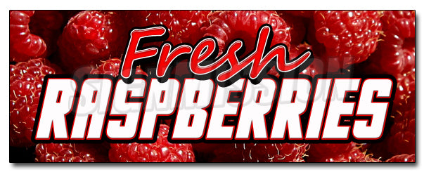 Fresh Raspberries Decal