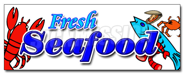 Fresh Sea Food Decal