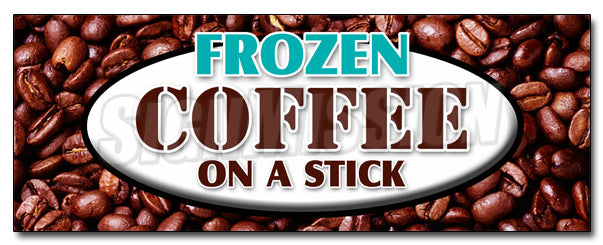 Frozen Coffee On A Stick Decal