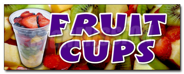 Fruit Cups Decal