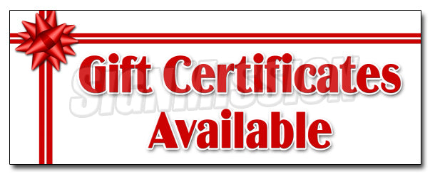 Gift Certificates Decal