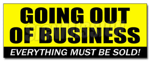 Going Out Of Business Decal