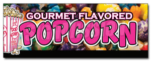 Gourmet Flavored Popcorn Decal