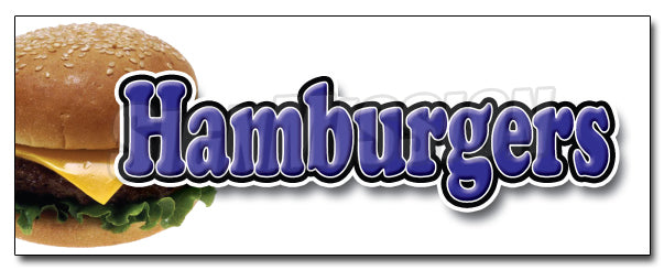 Hamburgers Decal