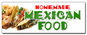 Homemade Mexican Food Decal