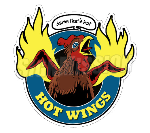 Hot Wings Decal