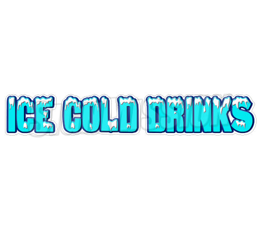 Ice Cold Drinks Die Cut Decal