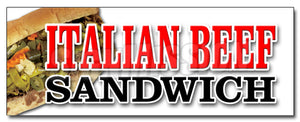 Italian Beef Sandwich Decal