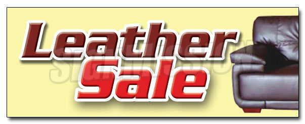 Leather Sale Decal