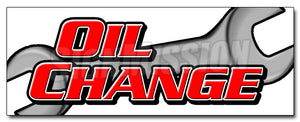 Oil Change Decal