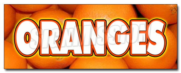 Oranges Decal