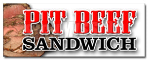 Pit Beef Sandwich Decal