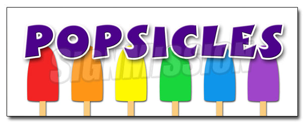 Popsicles Decal