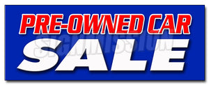 Pre-Owned Car Sale Decal