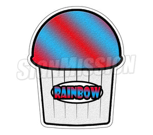 Rainbow Flavor Die Cut Decal