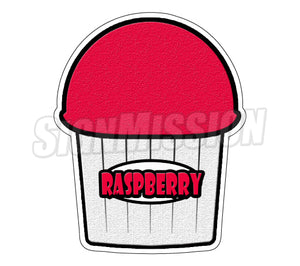 Raspberry Flavor Die Cut Decal