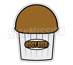 Rootbeer Flavor Die Cut Decal