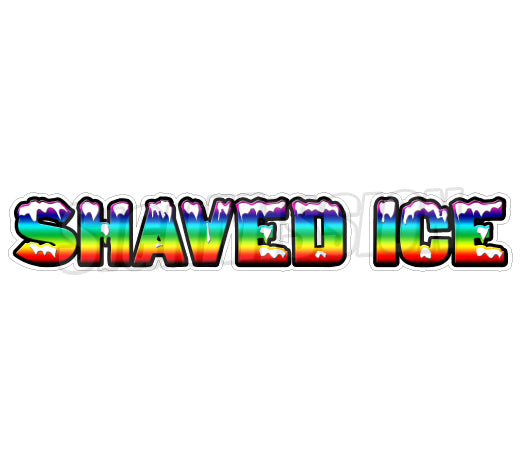 Shaved Ice Die Cut Decal