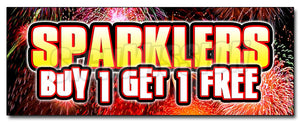 Sparklers Buy 1 Get 1 Free Decal